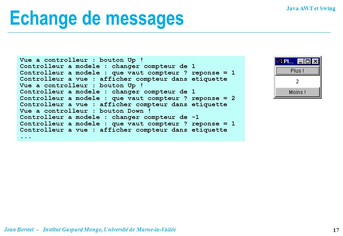 Echange de messages Vue a controlleur : bouton Up !