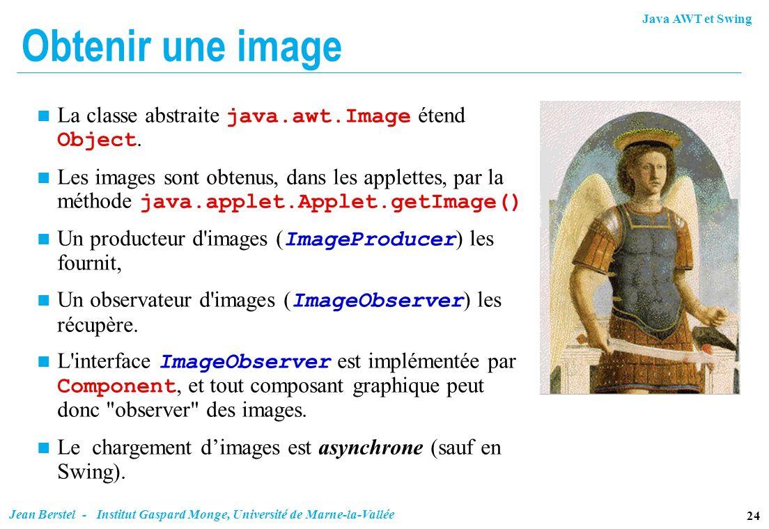 Obtenir une image La classe abstraite java.awt.Image étend Object.