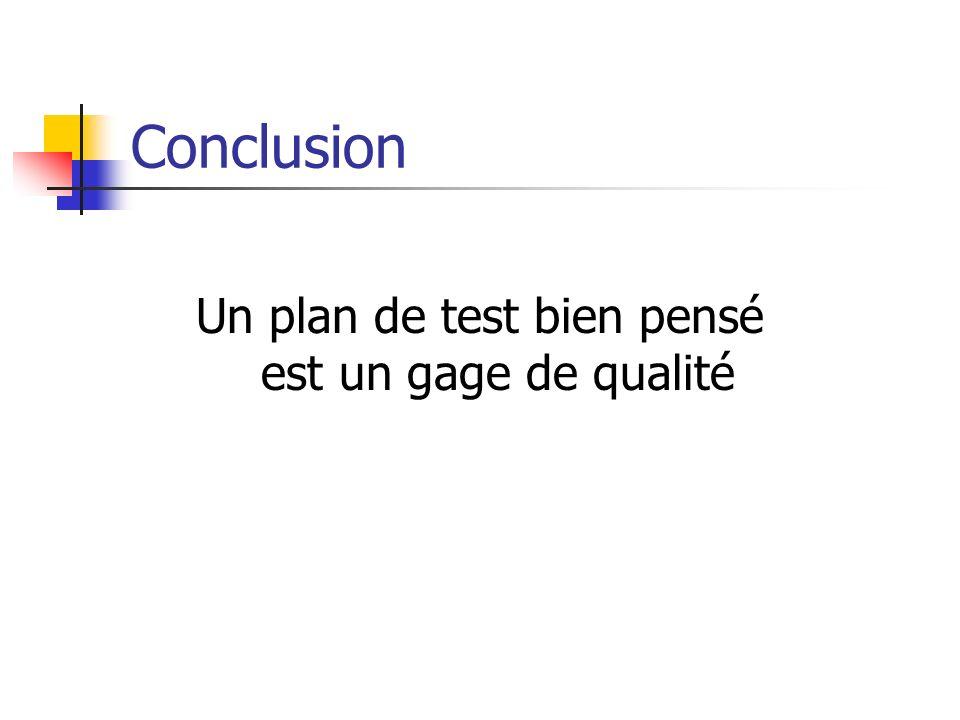 Un plan de test bien pensé est un gage de qualité