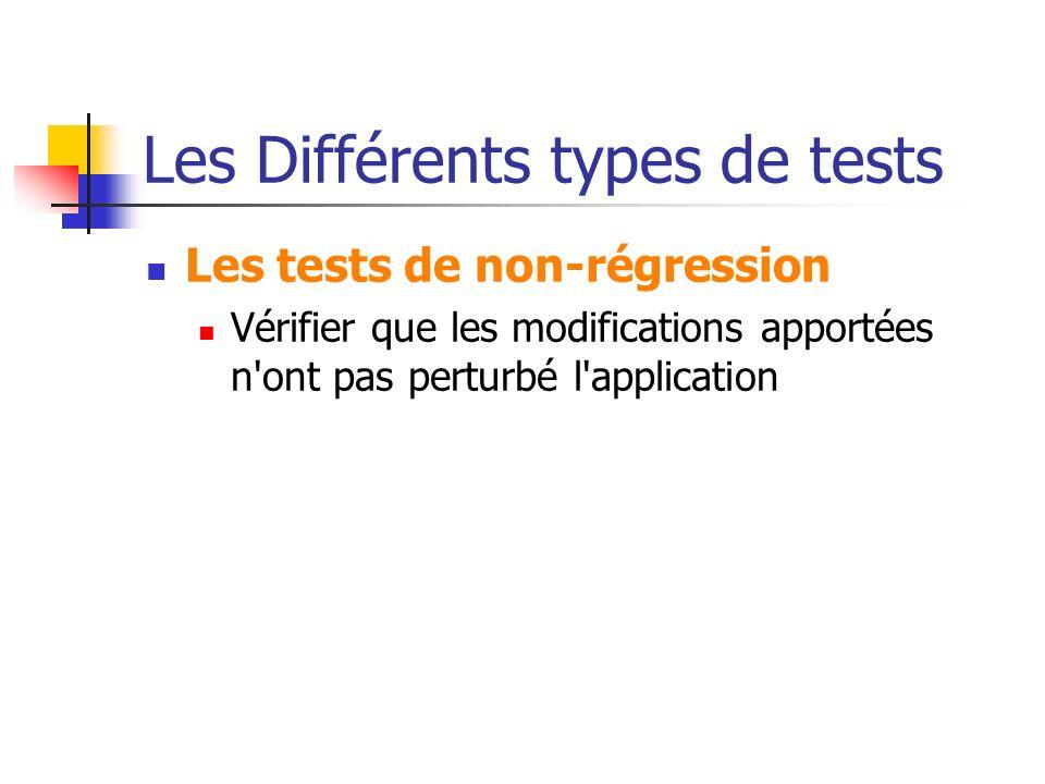 Les Différents types de tests