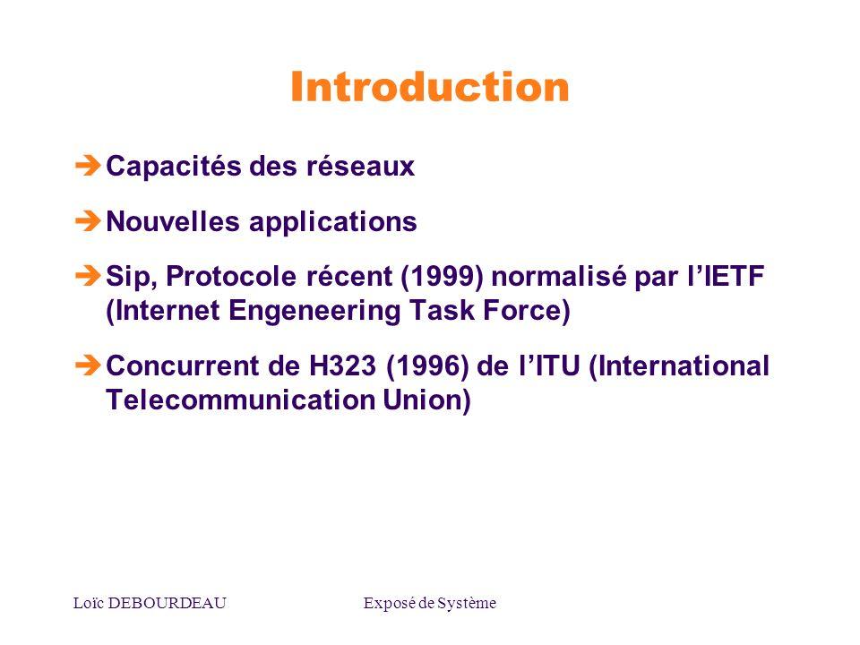 Introduction Capacités des réseaux Nouvelles applications