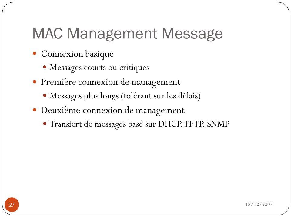 MAC Management Message