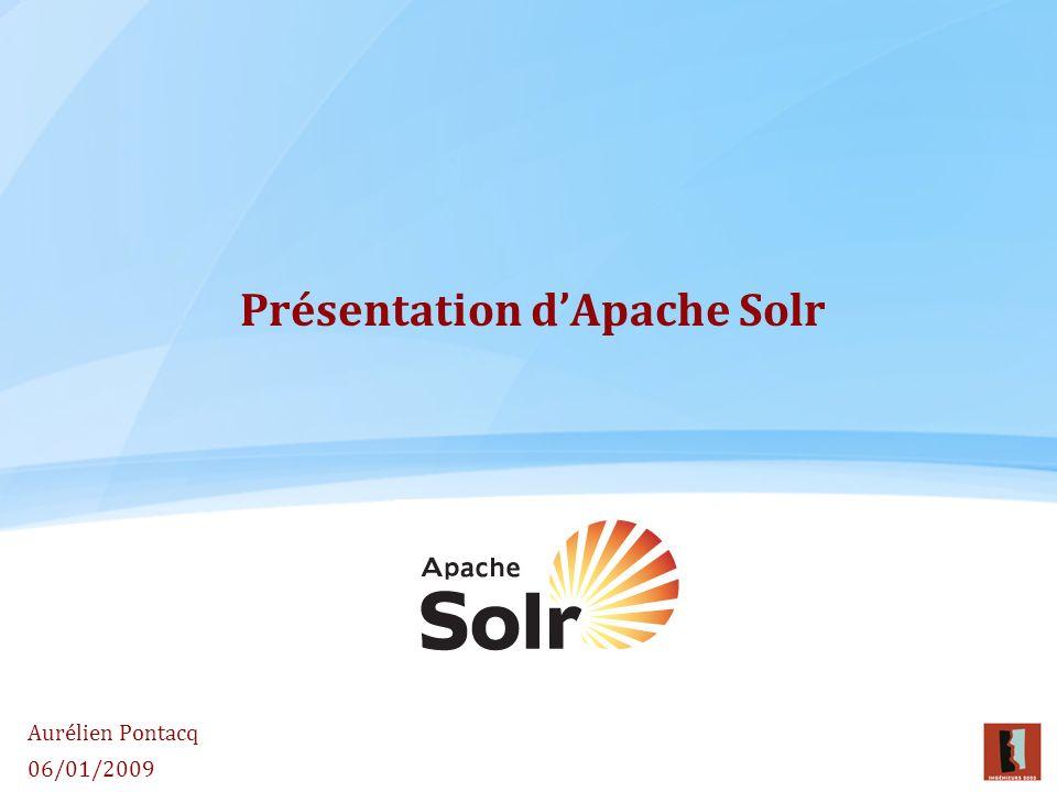 Présentation d'Apache Solr