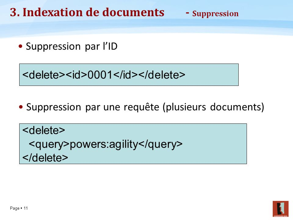 3. Indexation de documents - Suppression