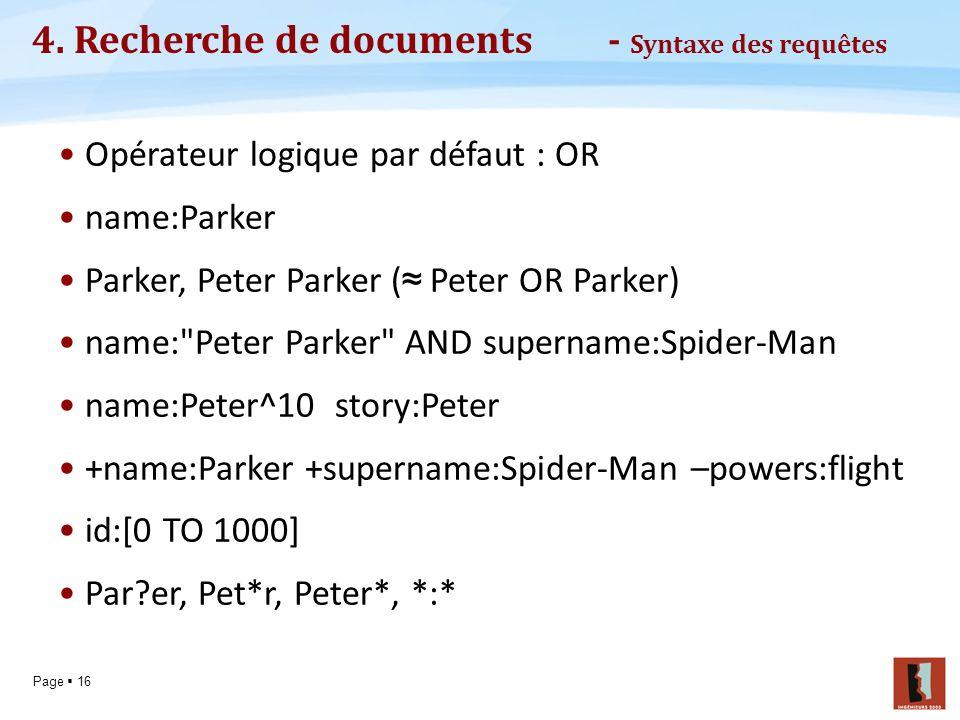 4. Recherche de documents - Syntaxe des requêtes