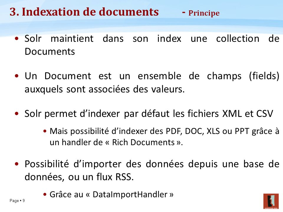 3. Indexation de documents - Principe