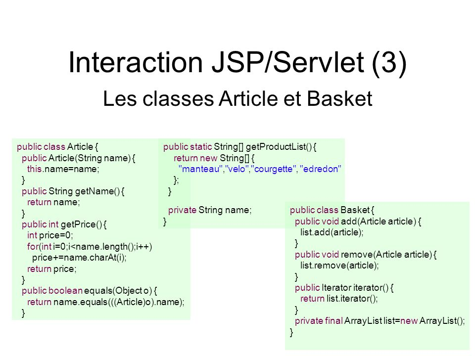 Interaction JSP/Servlet (3)