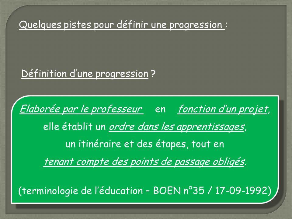 (terminologie de l'éducation – BOEN n°35 / 17-09-1992)