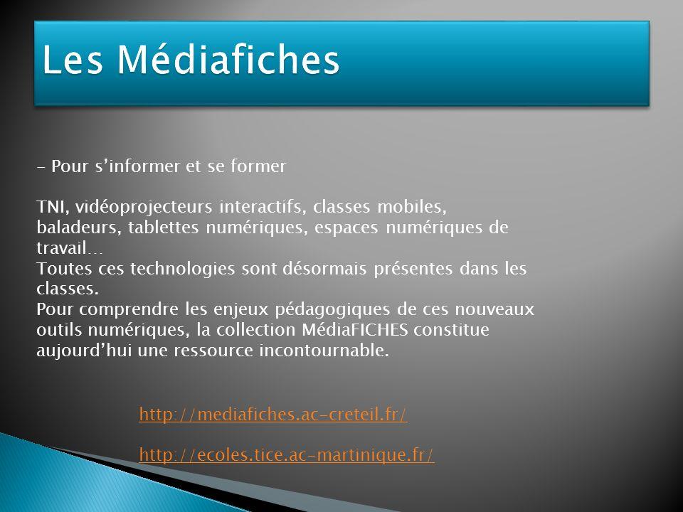 Les Médiafiches - Pour s'informer et se former
