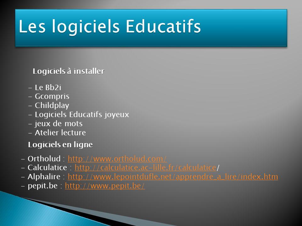 Les logiciels Educatifs
