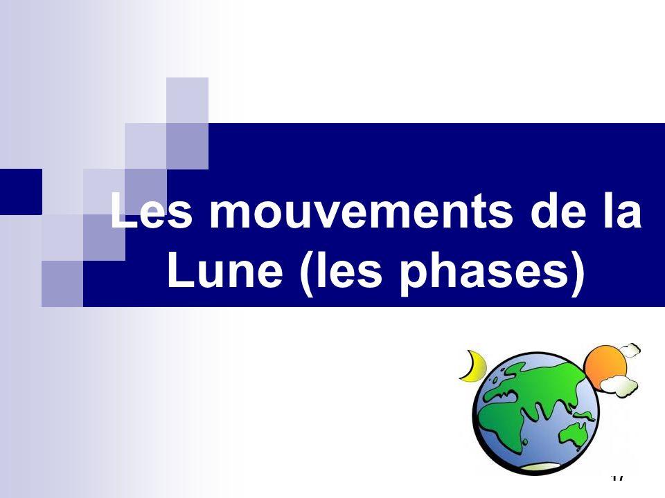 Les mouvements de la Lune (les phases)