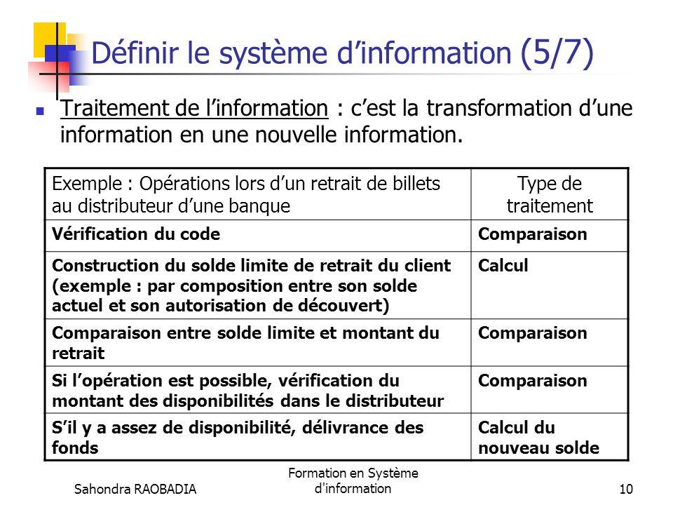 Définir le système d'information (5/7)