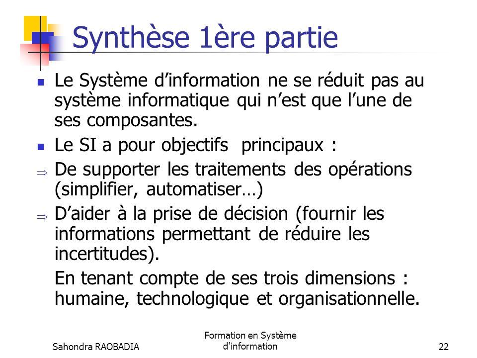 Formation en Système d information