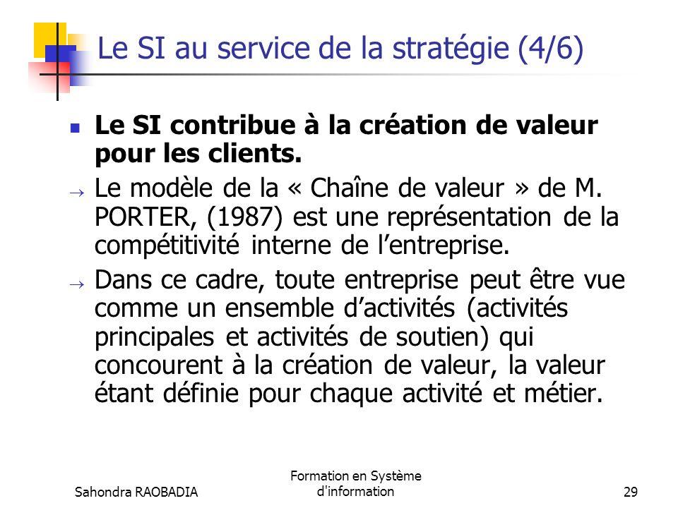Syst me d information et organisation ppt t l charger - Creation de valeur porter ...