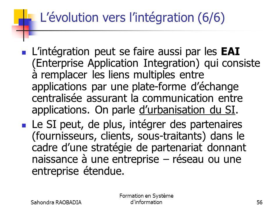L'évolution vers l'intégration (6/6)