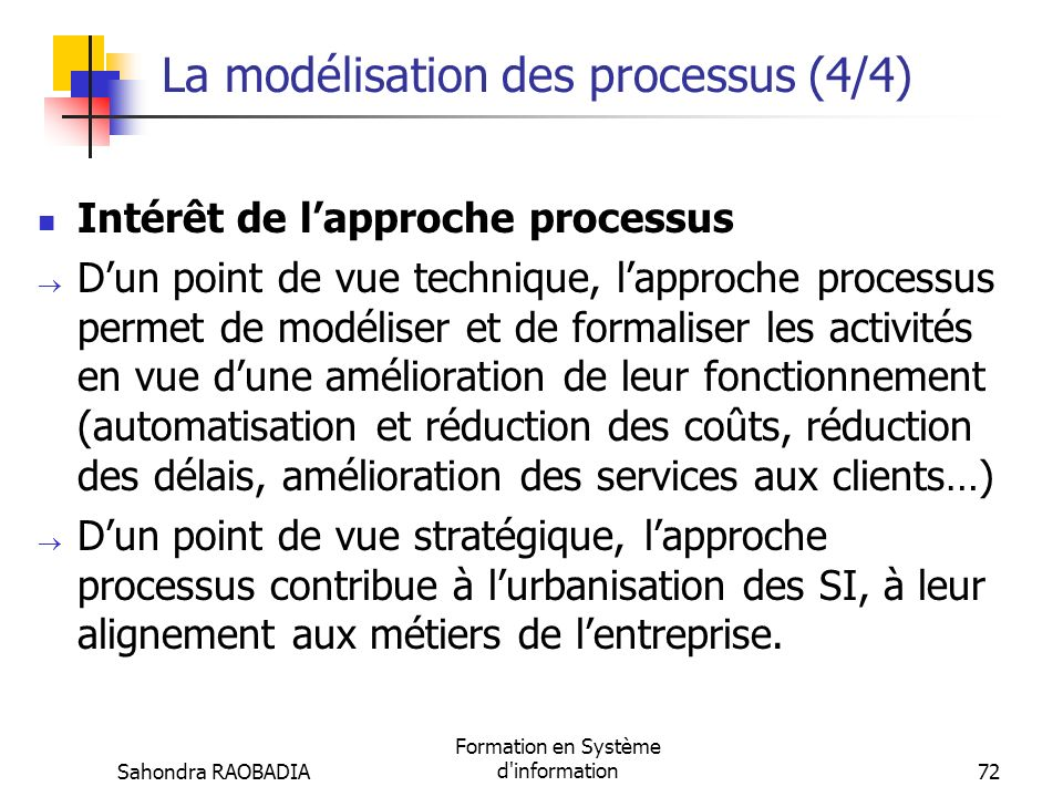 La modélisation des processus (4/4)