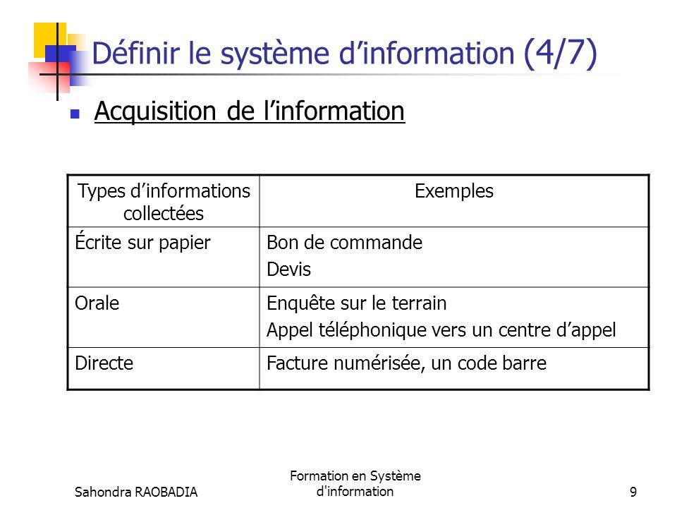 Définir le système d'information (4/7)
