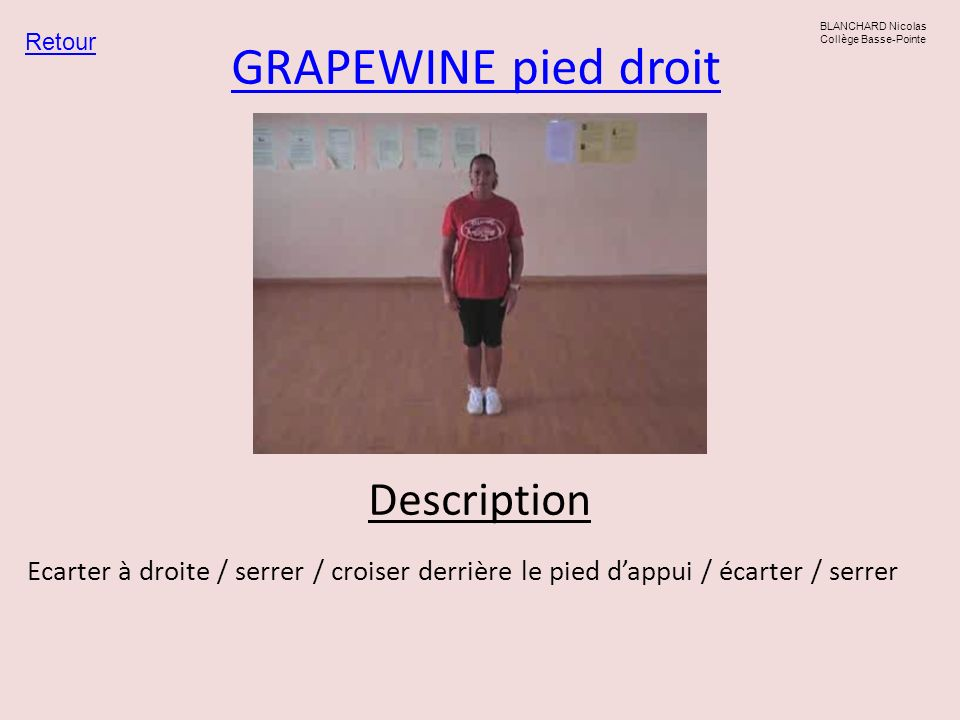 GRAPEWINE pied droit Description