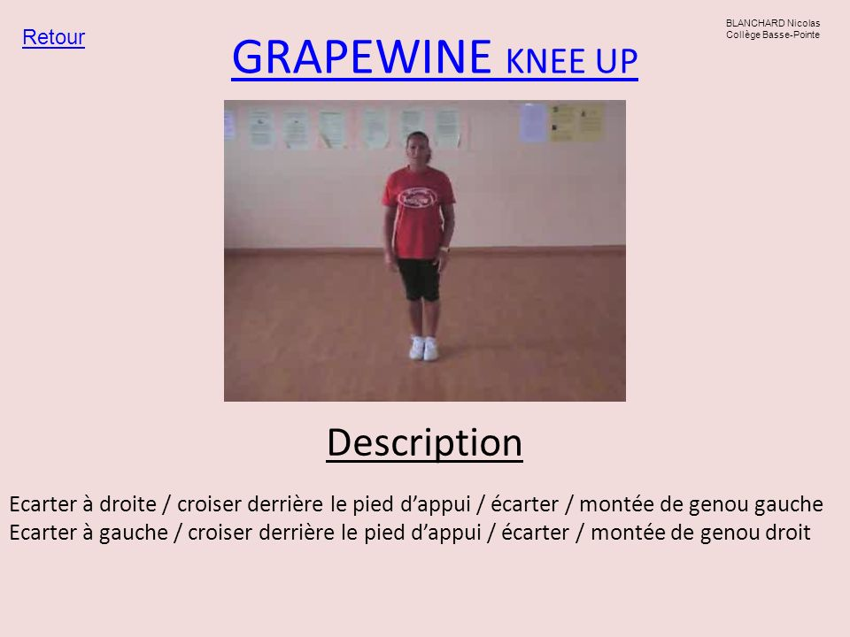 GRAPEWINE KNEE UP Description