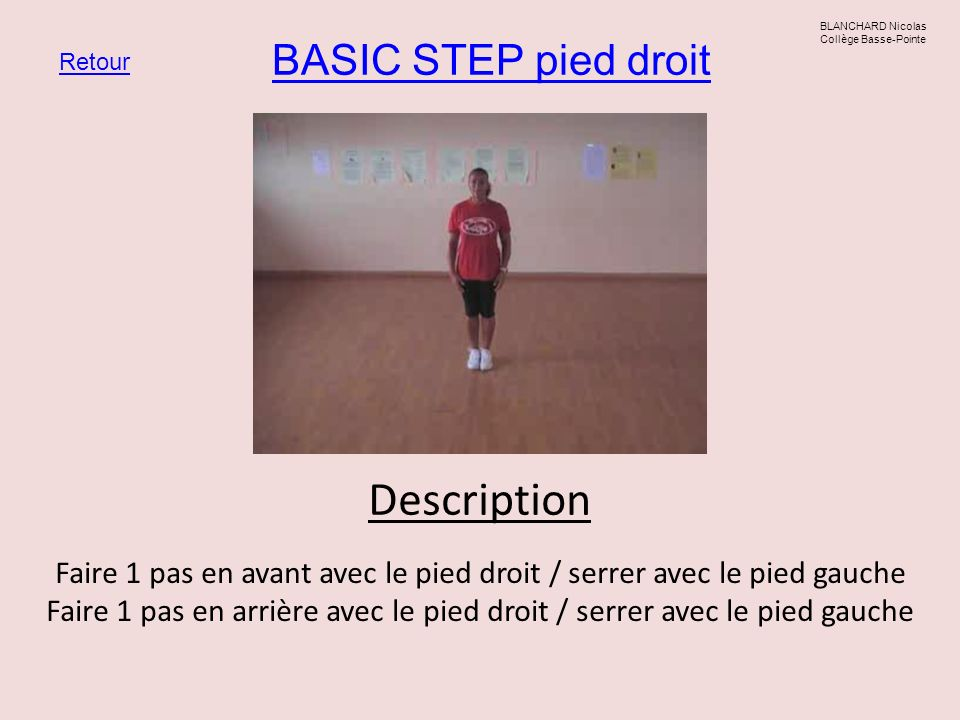 Description BASIC STEP pied droit