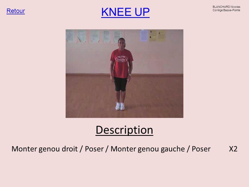 Monter genou droit / Poser / Monter genou gauche / Poser X2