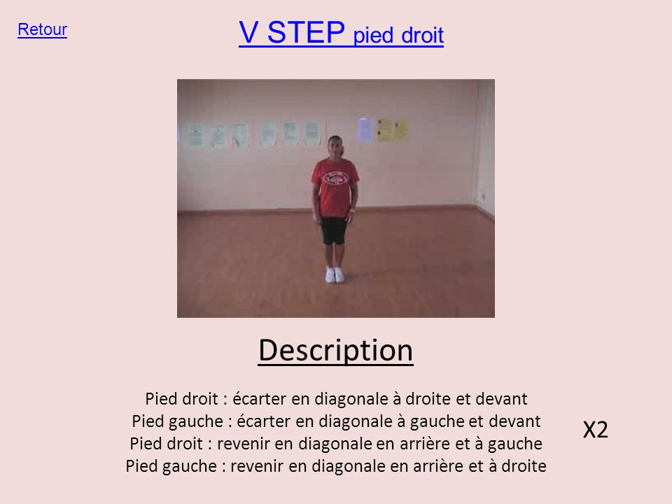 Description V STEP pied droit X2