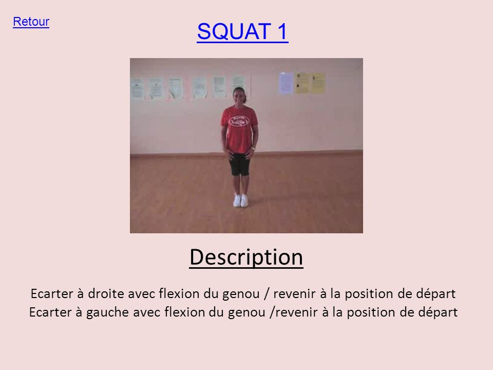 Retour SQUAT 1. Description.