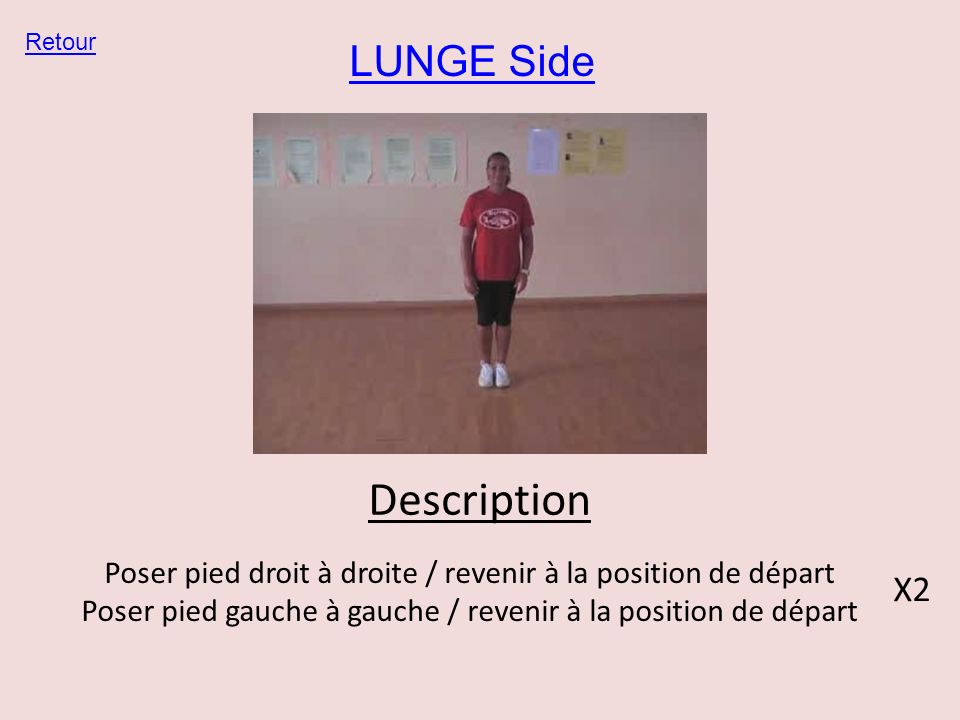 Description LUNGE Side X2