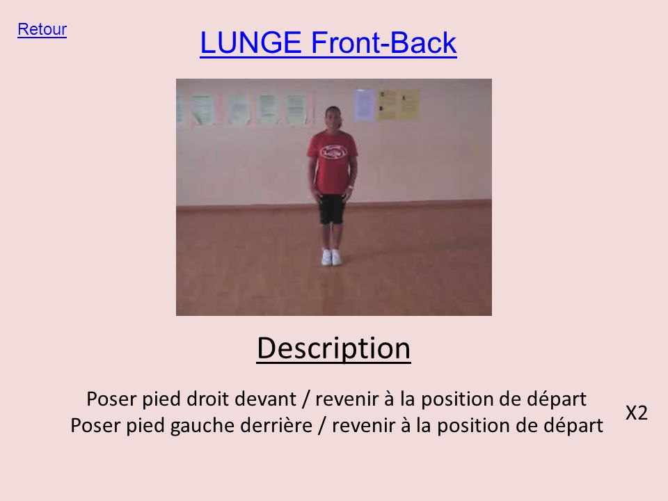 Description LUNGE Front-Back