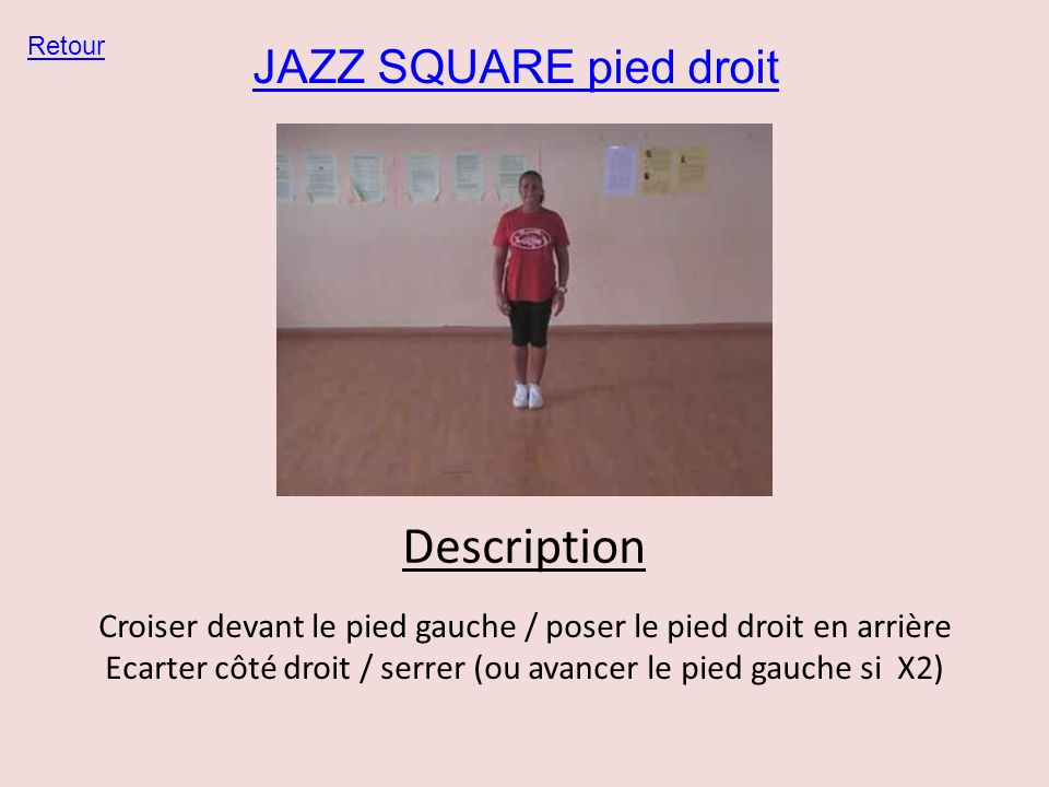 Description JAZZ SQUARE pied droit