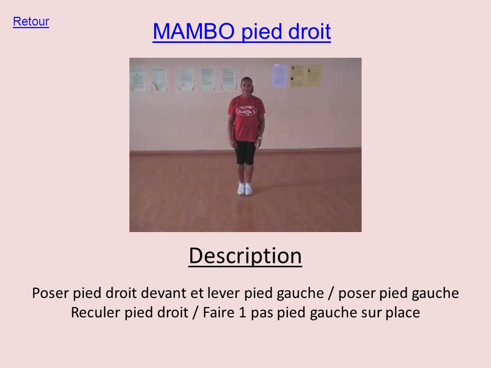Description MAMBO pied droit