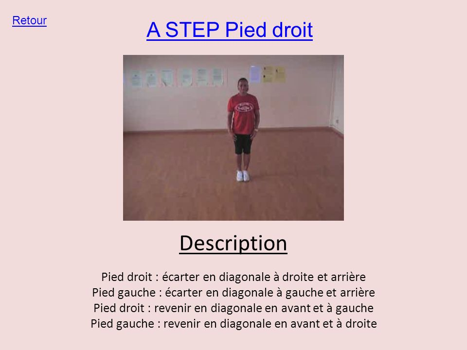 Description A STEP Pied droit
