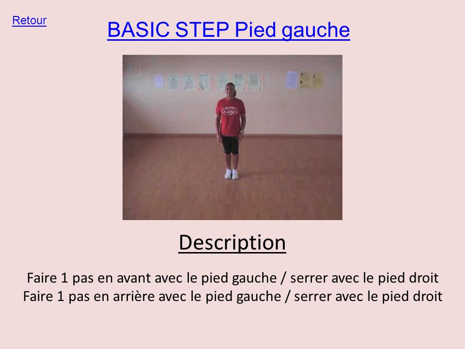 Description BASIC STEP Pied gauche