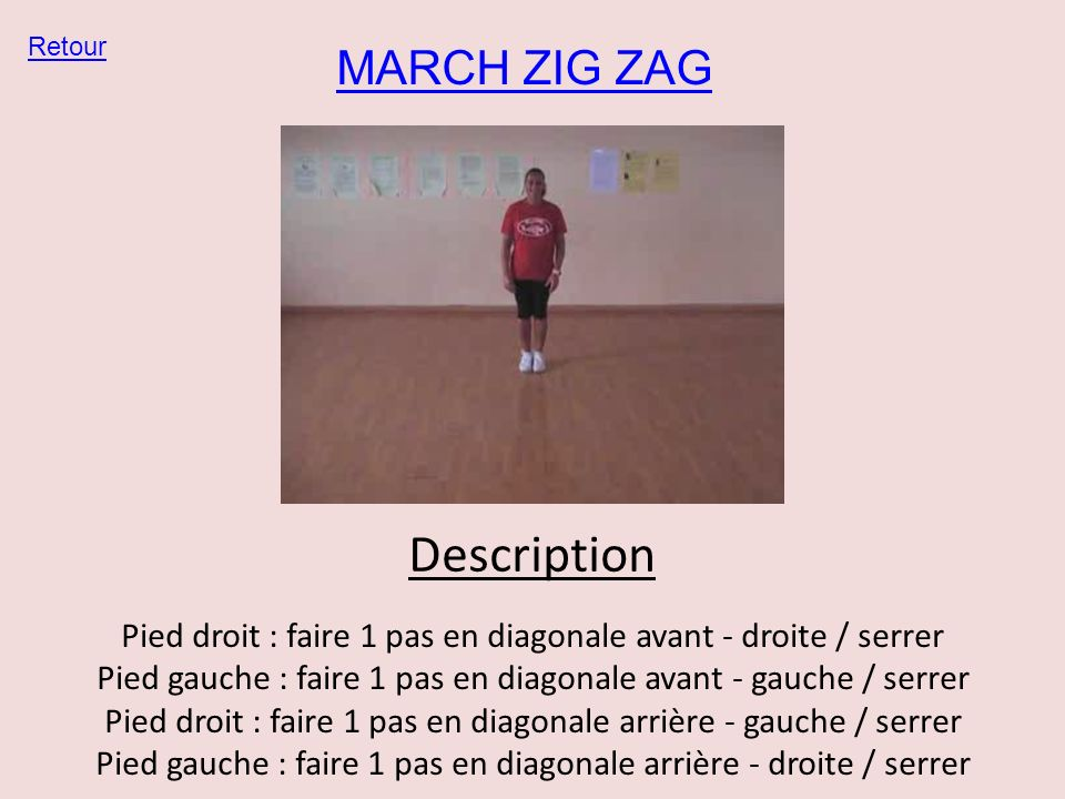 Description MARCH ZIG ZAG