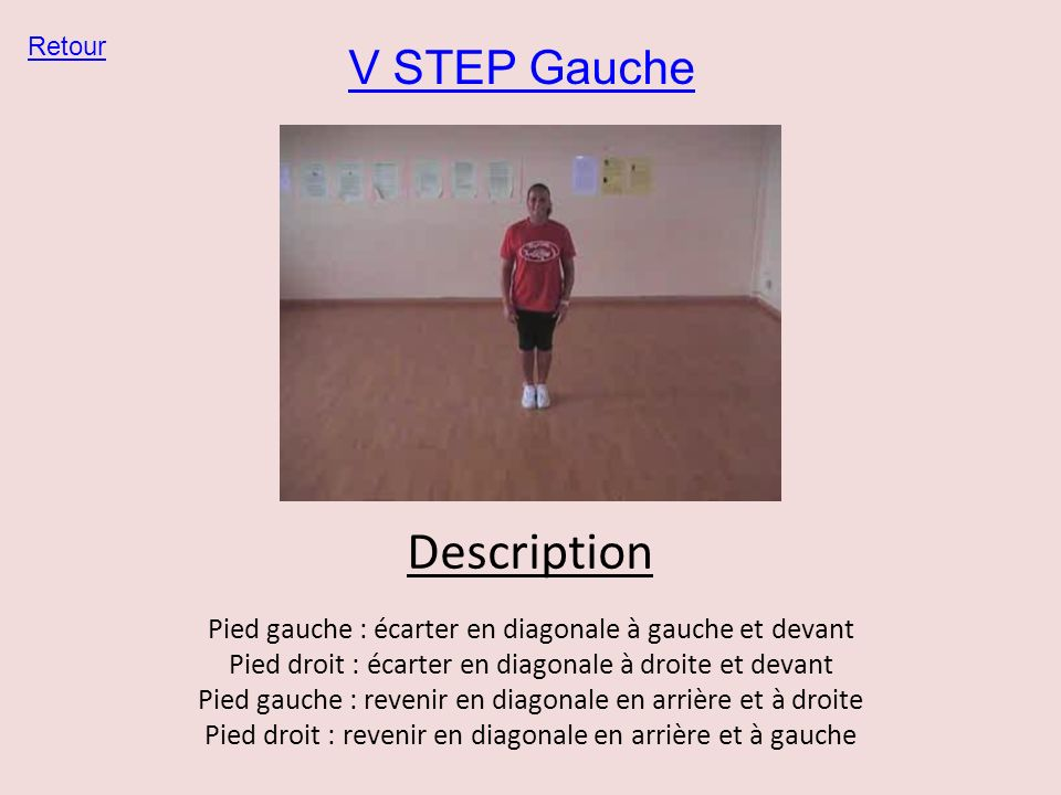 Description V STEP Gauche
