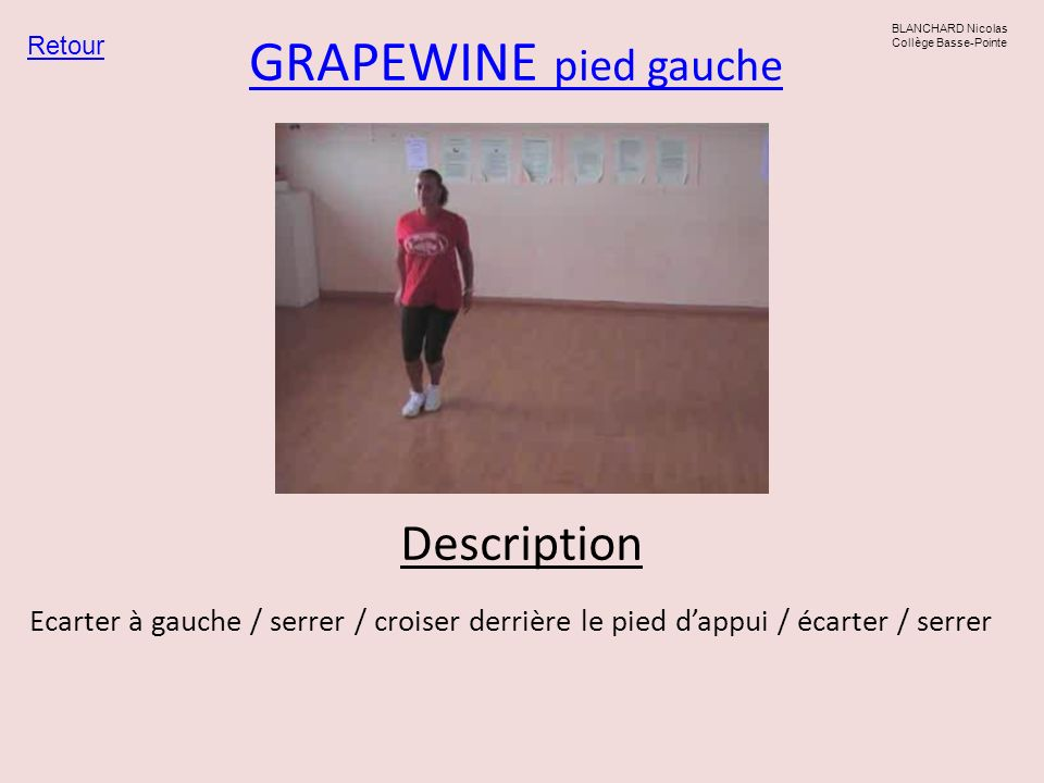 GRAPEWINE pied gauche Description