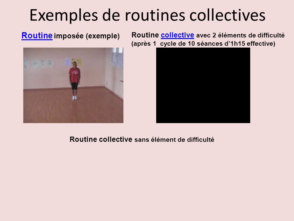 Exemples de routines collectives