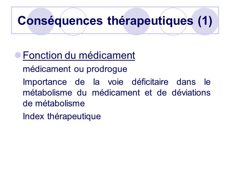 Conséquences thérapeutiques (1)