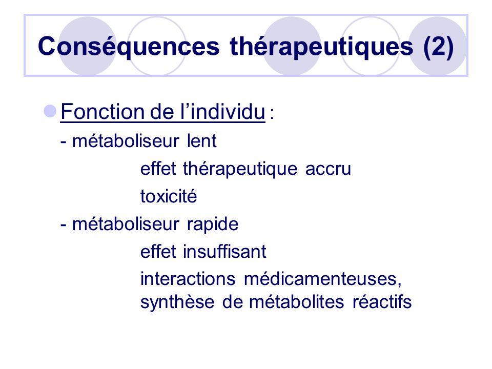 Conséquences thérapeutiques (2)