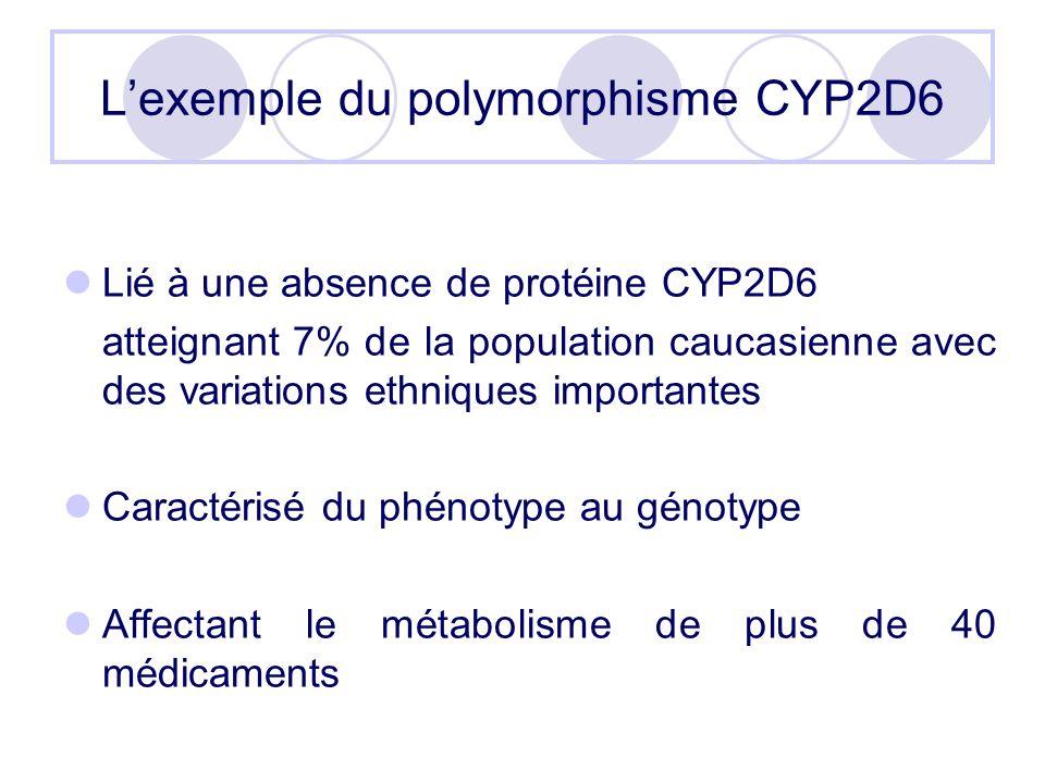 L'exemple du polymorphisme CYP2D6