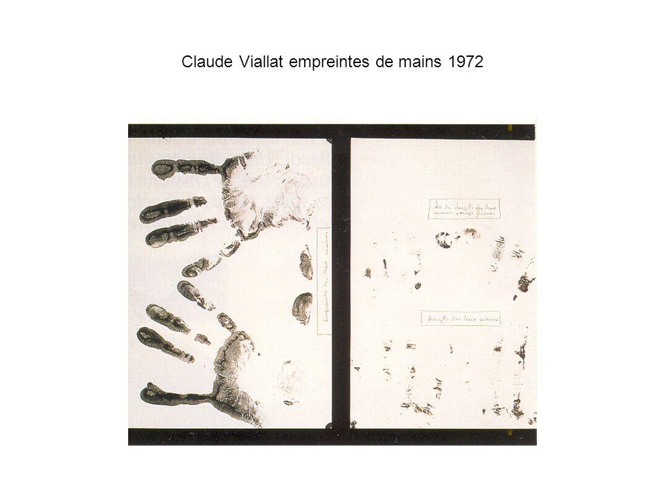 Claude Viallat empreintes de mains 1972