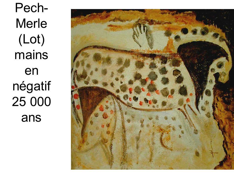 Pech-Merle (Lot) mains en négatif 25 000 ans