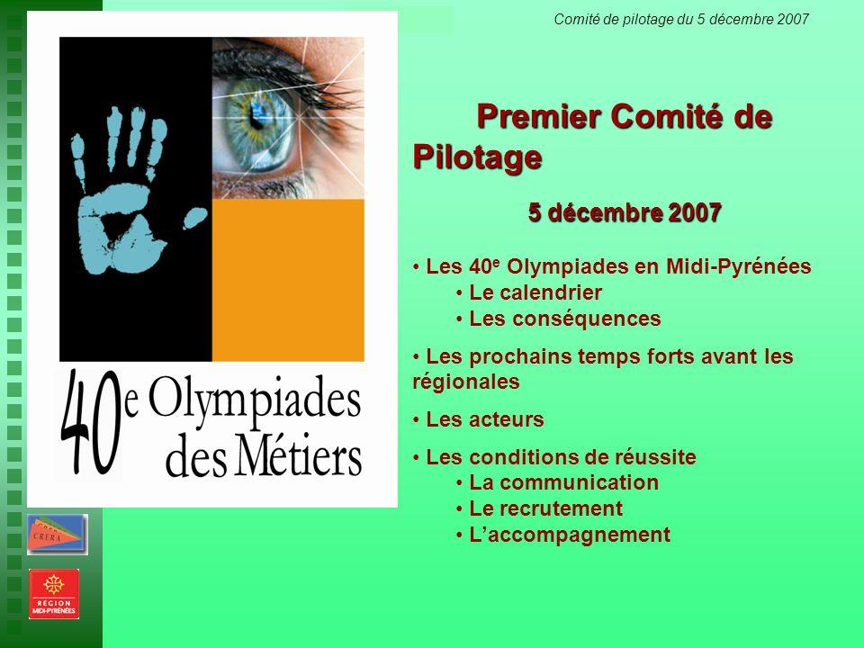 Premier Comité de Pilotage
