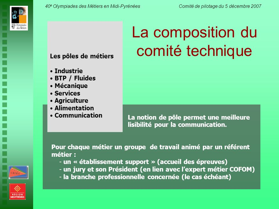 La composition du comité technique