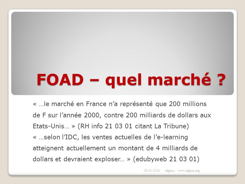 FOAD – quel marché