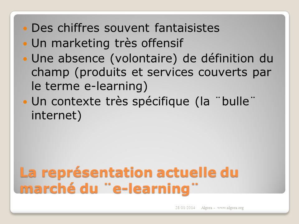 La représentation actuelle du marché du ¨e-learning¨