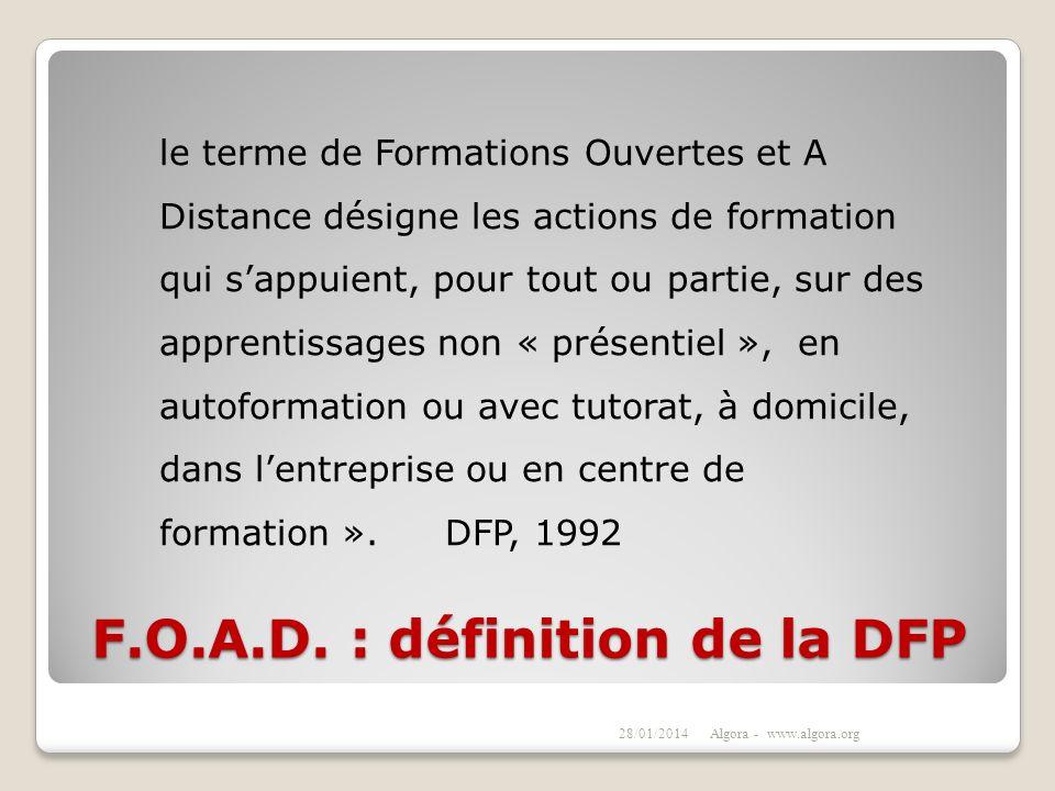 F.O.A.D. : définition de la DFP