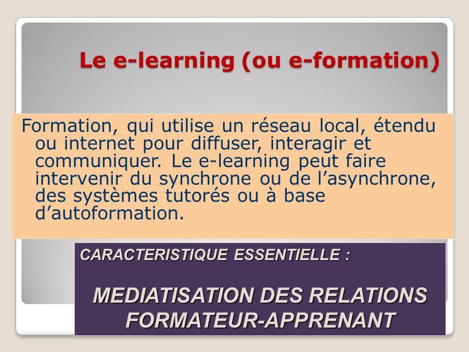 Le e-learning (ou e-formation)
