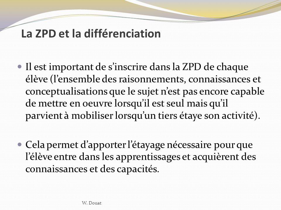 La ZPD et la différenciation