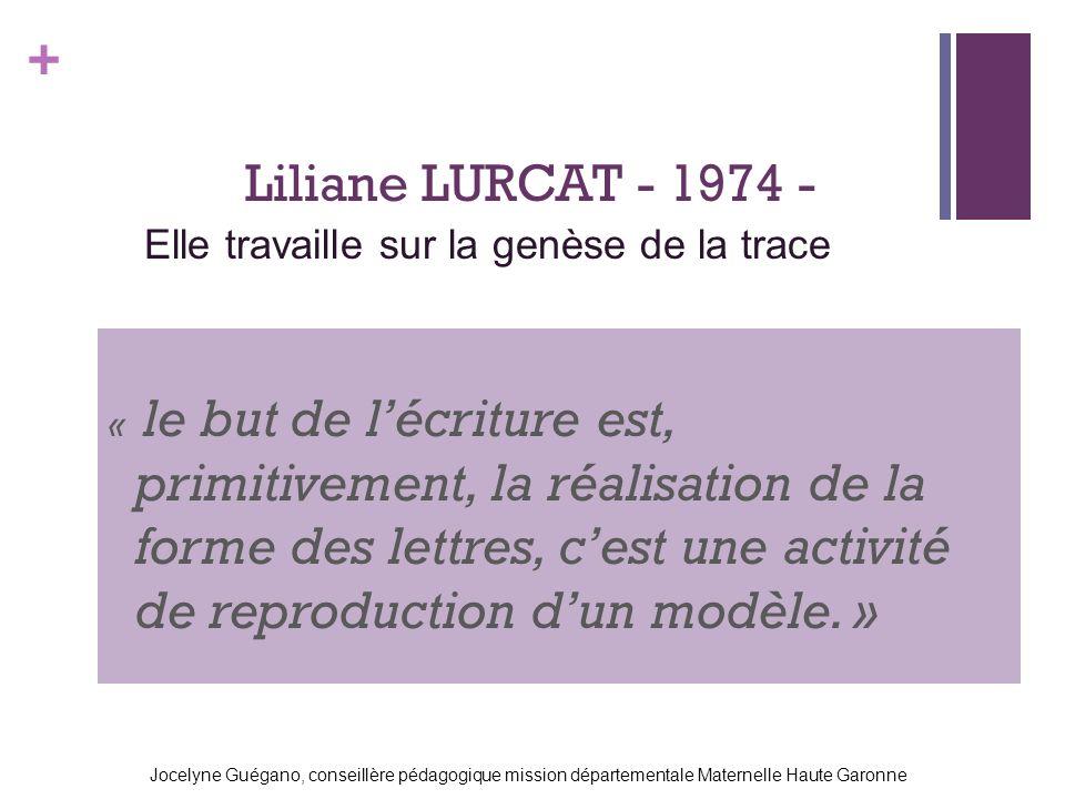 Liliane LURCAT - 1974 - Elle travaille sur la genèse de la trace
